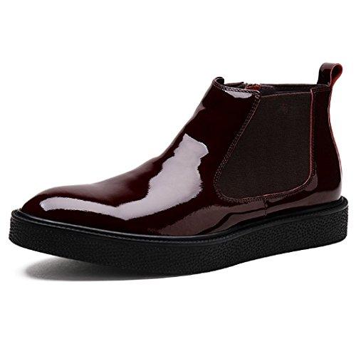 da Winered Leather Scarpe Version Scarpe Boots Morbido of European Sposa Alte Fondo Casual Resistente NTUMT All'aperto all'Usura aqgnB85