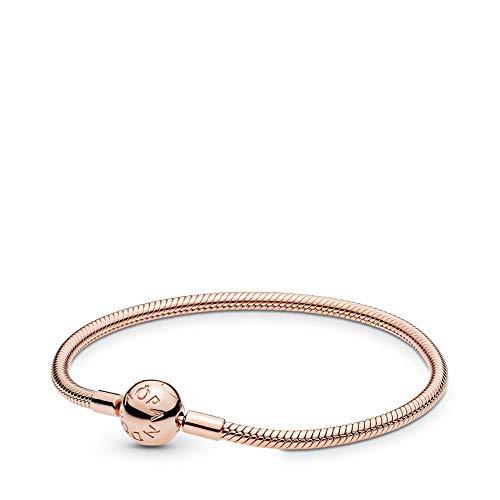 Pandora Smooth Rose Clasp Bracelet, 6.7 in