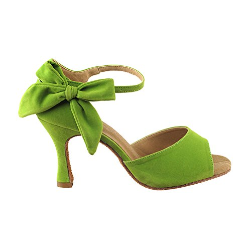 Wedding Tango Shoes High Latin Tango Heel Salsa Latin Swing 7010 Medium Swing Comfort Shoes Ballroom Dance Dress Evening Salsa Pigeon Gold Shoes Women SERA3830 green Pump Party Party x4wzvHZvq