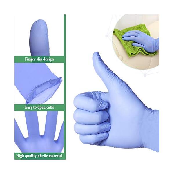 Slimerence Guantes médicos desechables de nitrilo, sin polvo, alimentos estructurados, industria química doméstica, caja… 4