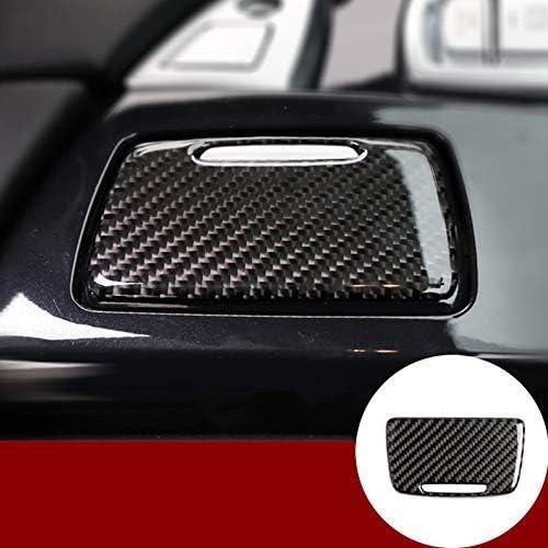 カーボンファイバーセンターコンソール灰皿パネルトリムカバー BMW 5シリーズ F10 F11 2011-2016用