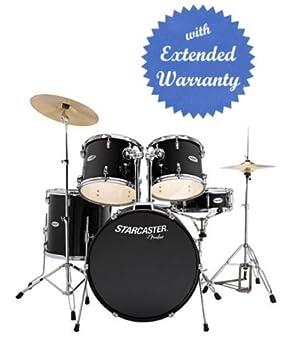 Fender Starcaster Drum Set (Snare Drum, Floor Tom, Rack Toms, Kick ...