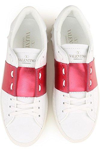 Rockstud GARAVANI VALENTINO Scarpe Donna Bianco 37 0IB PW2S0781FRL Rosa Sneakers ASqBqntw