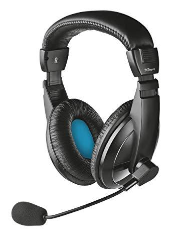 🥇 Trust Quasar – Auriculares con micrófono para PC