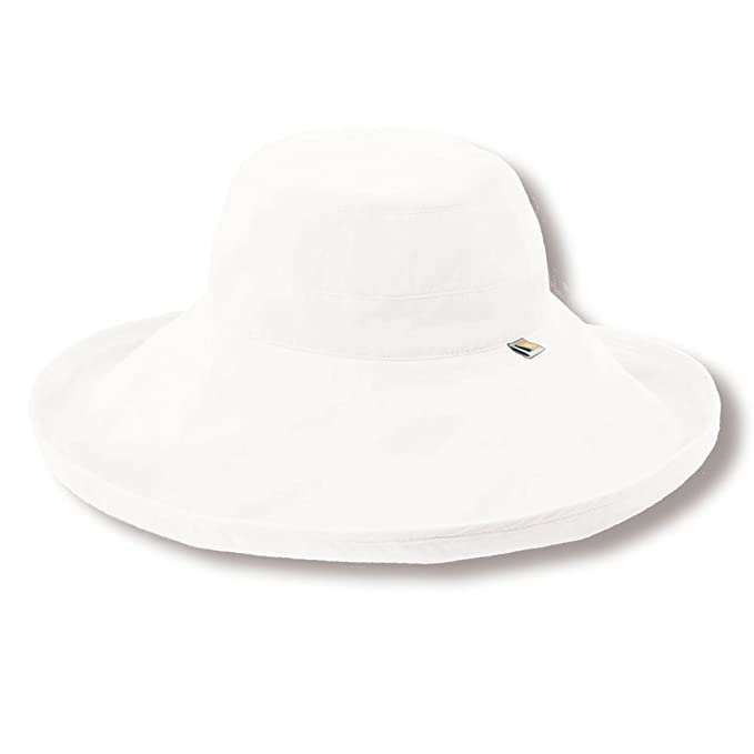 03b961f5 Solumbra Ultra-Wide Rolled Brim Hat - 100+ SPF Sun Protective at Amazon  Women's Clothing store: Sun Hats