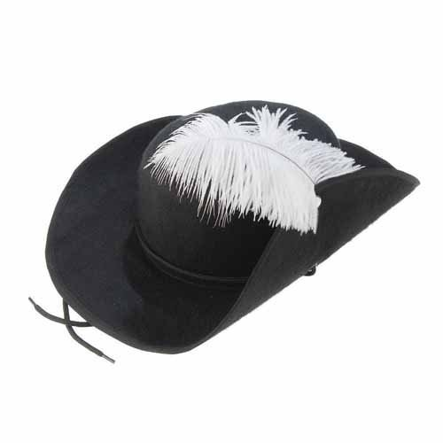 US Toy Musketeer Hat with Feather Costume -