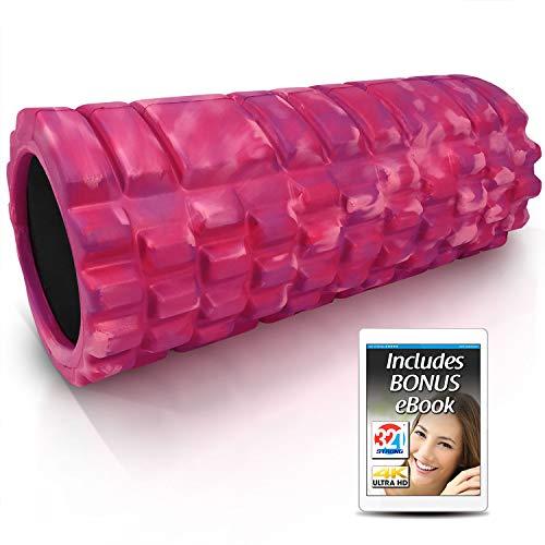 321 STRONG Foam Roller - Medium Density Deep Tissue Massager - Muscle Massage + Myofascial Trigger Point Release - Includes 4K eBook- Glam
