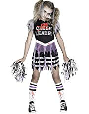 Fun World Zombie Fearleader Costume, Medium 8 - 10, Multicolor