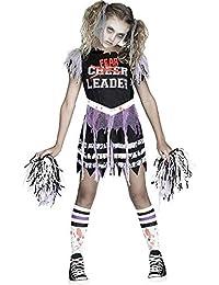 Zombie Fearleader Costume, Medium 8 - 10, Multicolor