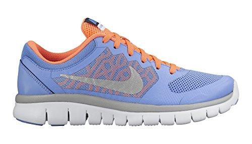 Nike Flex 2015 RN (GS), Zapatillas para Niñas Azul (Chlk Blue / Mtllc Slvr Obsdn Wht)
