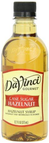 DaVinci Gourmet Cane Sugar Syrup, Hazelnut, 12.7 Ounce (Pack of 6) (Da Vinci Hazelnut Syrup)