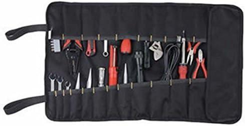 OULII Organizador Bolsa Portaherramientas Estuche Enrollable con 22 Bolsas (Negro)