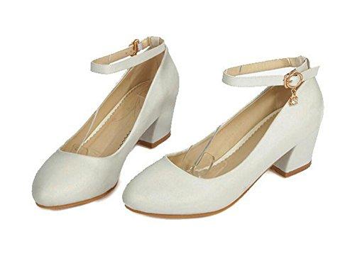 39 fibbie tempo donne WHITE libero scarpe delle cosciali luce il scarpe di bocca per XIE corte beige strass 39 BUxqR0Pw