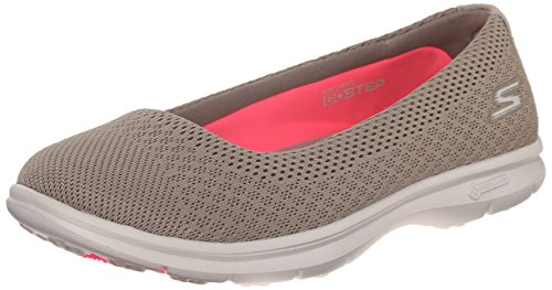 Skechers Performance Women's Go Step Primary Walking Shoe, Taupe Mesh, 8.5 M US