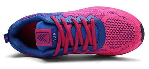 Ausom Sport Fitness Luchtkussen Dames Heren Jogging Wandelen Rijden Liefhebbers Schoenen Mode Sneskers Rose Rood