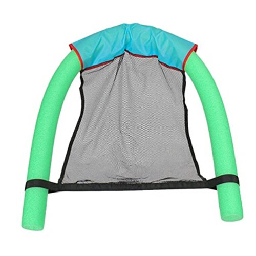 UMFun Floating Chair Swimming Pool Seats Pool Floating Bed Chair Pool Noodle Chair (Green, M:6.5x150cm)