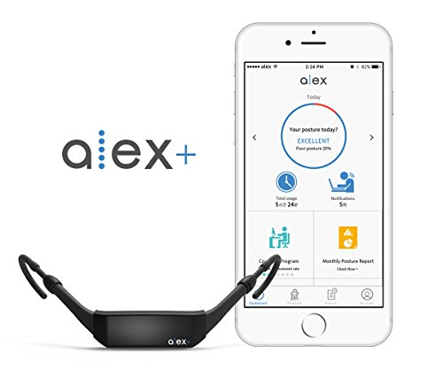 ALEX Plus Smart Wearable Posture Tracker and Trainer (with Free iOS/Android app) by ALEX