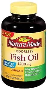 Nature Made Fish Oil 1200 Mg Burp Less Value