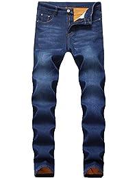 Men's Fleece Lined Skinny Winter Slim Fit Thicken Warm Stretch Jeans