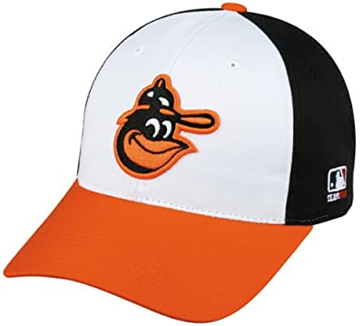 MLB Cooperstown YOUTH Baltimore ORIOLES Wht/Orng/Blk Hat Cap Adjustable Velcro TWILL Throwback by OC Sports - Outdoor Cap Co