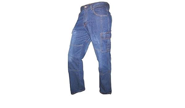 f14de20603 Juicy Trendz Hombre Motocicleta Pantalones Moto Pantalón Mezclilla Jeans  Con Protección Aramida Azul W32-L34  Amazon.es  Ropa y accesorios