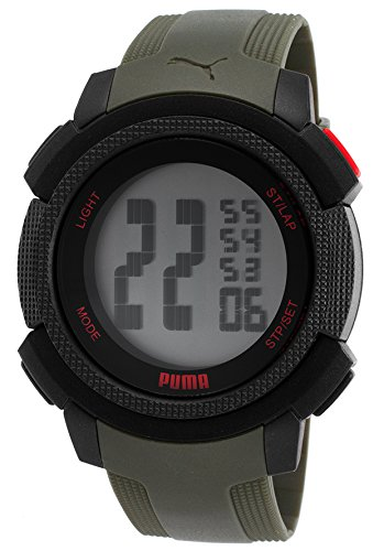 Puma Men's PU911151003 Green Rubber Quartz - Puma Watch Green