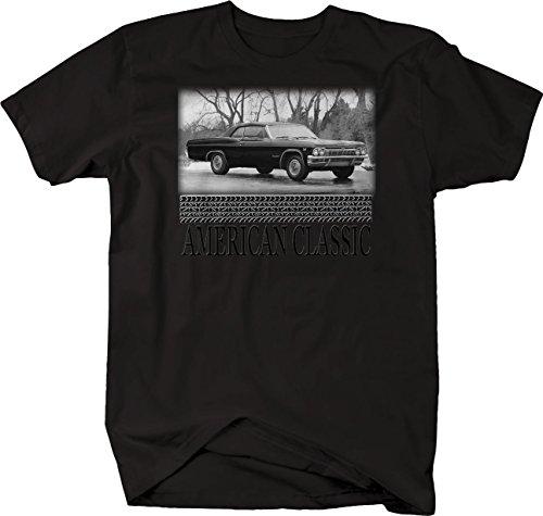 (Bold Imprints Retro - American Classic Chevy Impala Coupe Convertible Sport Tshirt - Medium)