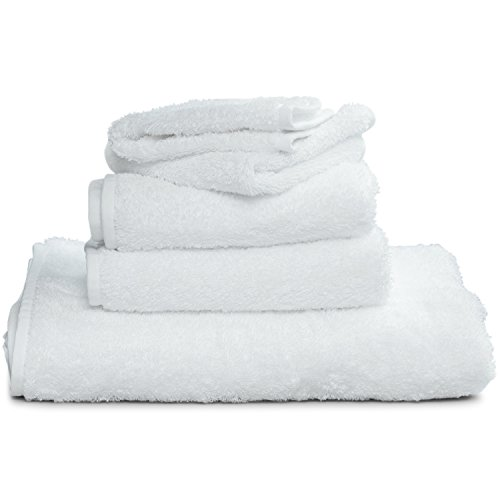 White Supima Wash Cloths (13'' x 13'') (4-Pack) - Features Loop To Hang From Hook - Made of 100% USA Grown Cotton by Winter Park Towel Co. - OEKO-TEX Certified by Winter Park Towel Co.