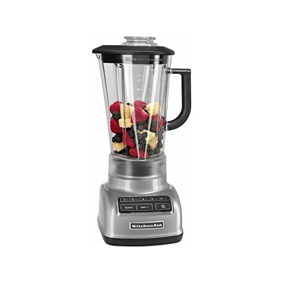 KitchenAid KSB1575 5-Speed Diamond Blender with 60-Ounce BPA-Free Pitcher 4 The diamond blending system ensures that all ingredients blend together quickly and efficiently The Intelli-Speed Motor Control senses contents and maintains optimal speed to power through all ingredients Stir, chop, mix, puree or liquify. Pulse mode works with all speeds for staggered blending