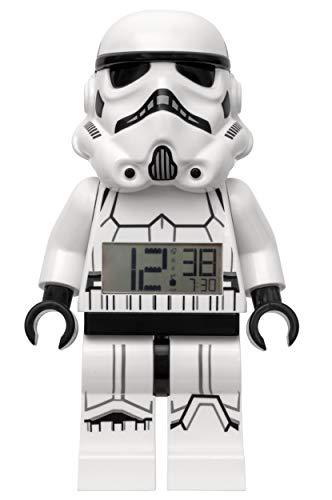ClicTime 7001019 Stormtrooper Minifigure Light Up Alarm Sonido Caracterizado Lego Star Wars Reloj