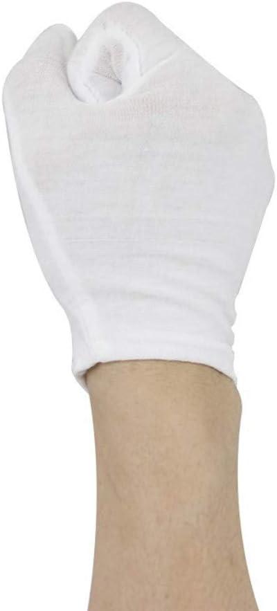 10 Paires Gants De Coton Blanc Femme Homme Gants en Tissu pour Ecz/éma Nettoyage des Costumes en Argent pour Bijoux de pi/èce de Monnaie Mains s/èches hydratation