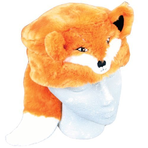 [Child Faux Fur Fox Animal Hat Cap, Small, Children Kids, Orange White, Lined] (Fox Hat Costume)
