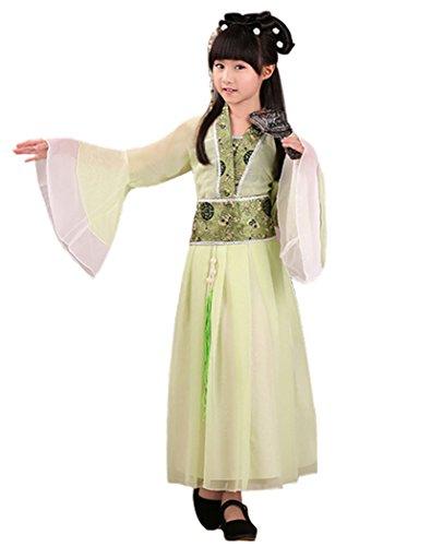Bysun girls's costume Han Chinese clothing ancient costume girl Light Green150 (Tween Girl Halloween Costume Ideas)