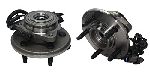 Detroit Axle - Brand New (Both) Front Wheel Hub and Bearing Assembly for 2002-2005 Explorer 4-Door - [03-05 Aviator] - 02-05 Mountaineer - EXCLUDES Sport Trac - 4x4 5 Lug W/ABS (Pair) 515050 x2