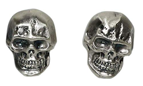 Silver plated Skull Designer Knobs - Unique original model handmade by Italian craftsman - Ideal for furniture, chest of drawers, cupboards, sideboards and wardrobes - Inch 0,78 x 1,1 x 0,78