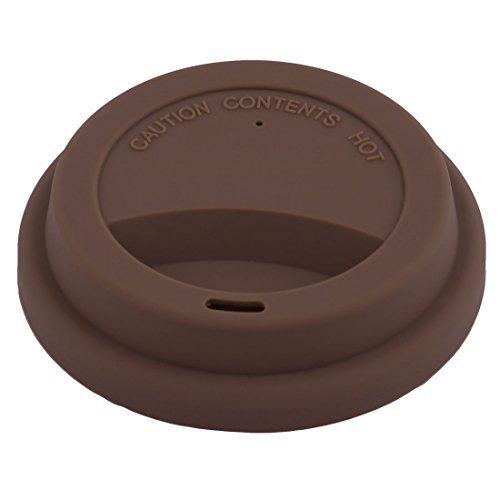 DealMux Silicone Famlia forma redonda Resuable Lid Caneca selada de Ch Tampa Caf Chocolate Cor