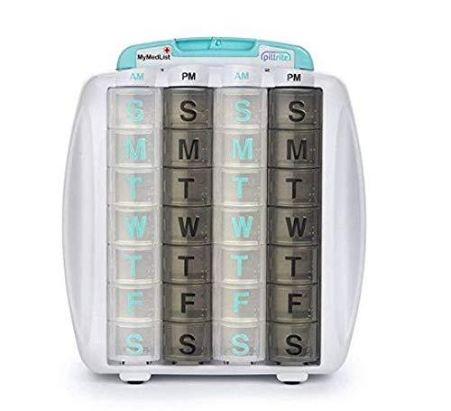 PillRite Medication and Supplement Pillbox Organizer by PILLRITE