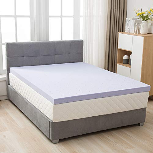 LAGRIMA 4 Inch Gel Infused Memory Foam Mattress Topper ...