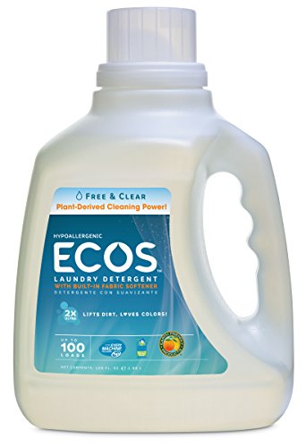 Earth Friendly Products Ecos Liquid Laundry Detergent  Free & Clear, 100 Oz (Earth Friendly Products Ecos Laundry)
