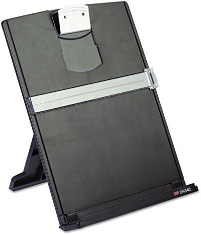9-2//3-Inch x2-Inch x12-1//8-Inch Black//Silver 3M DH340MB Desktop Document Holder