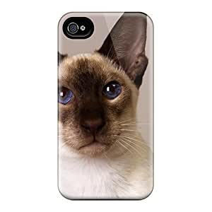 Durable Defender Case For Iphone 4/4s pc Cover(siamese Oriental)