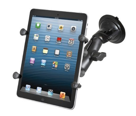 - RAM Mount Universal X-Grip II Tablet Cradle Locking Suction Cup Mount (RAM-B-166-UN8U)