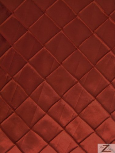 CHECKERED TAFFETA FABRIC - Burgundy - 60 WIDTH SOLD BTY PINTUCK by Big Z Fabric   B00FY2QVX4
