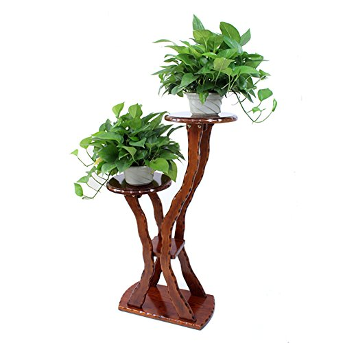 Flower/solid wood multi-layer floor flower/wooden flower racks/solid wood bonsai frame/balcony,living room,indoor,flower-G by SHDUAYGSCXS