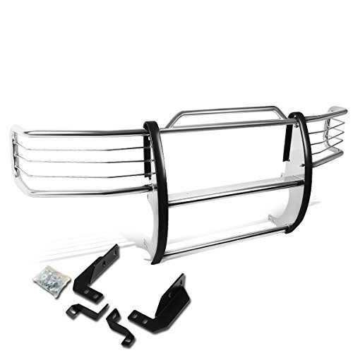- DNA MOTORING Silver GRILL-G-024-SS Front Bumper Brush Grille Guard