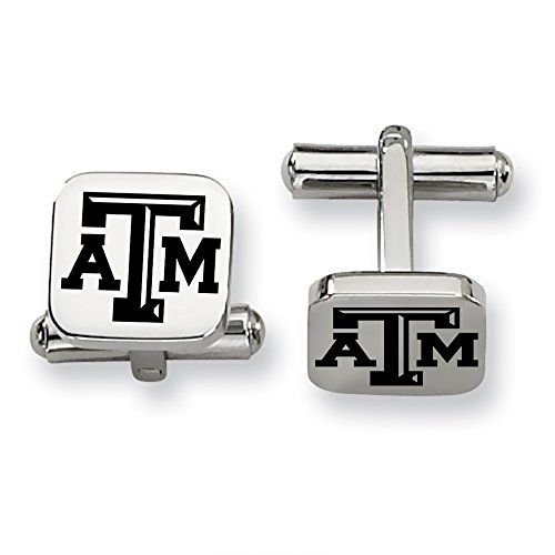 Texas A&M Aggies Stainless Steel Square Cufflinks