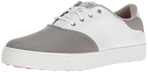 PUMA Golf Women's Tustin Saddle Golf Shoe, Drizzle White-Knockout Pink, 6 Medium US