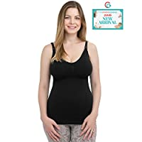 Kindred Bravely Simply Sublime Maternity & Nursing Tank with Built-In Bra (Bl...