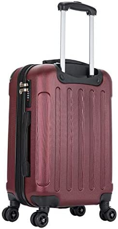 20 inches Small Hardside 360 Spinner Wheels Suitcase GREY Dukap INTELY Carry-On Port