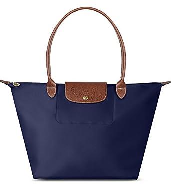 Amazon.com: Longchamp Le Pliage Large Folding Tote (Navy): Shoes